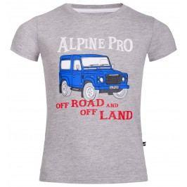ALPINE PRO Chlapecké tričko Marvo - šedé