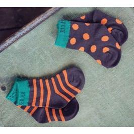 Blade & Rose Dětský set 2párů ponožek - hnědo-oranžový