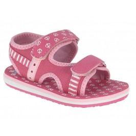 Beppi Dívčí sandály s kotvičkami - růžové