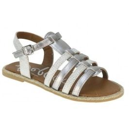 Beppi Dívčí páskové sandály - stříbrné