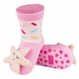 SOXO® Dívčí protiskluzové ponožky s hvězdicí - růžové