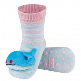 SOXO® Dětské protiskluzové ponožky  s velrybou - modré