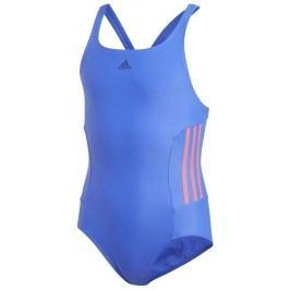 adidas Dívčí jednodílné plavky - modro-růžové