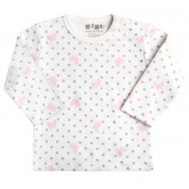 Nini Dívčí puntíkované tričko s motýlky - bílé