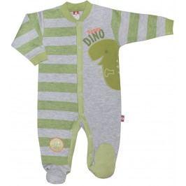 2be3 Chlapecký overal DINO - zeleno-šedý