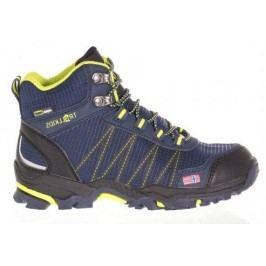 Trollkids Chlapecká outdoorová obuv Trolltunga Hiker Mid - modro-žlutá