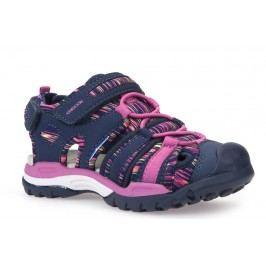 Geox Dívčí sandály Borealis - modro-růžové