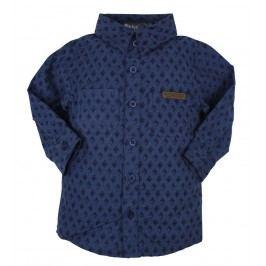 Dirkje Chlapecká vzorovaná košile - tmvě modrá
