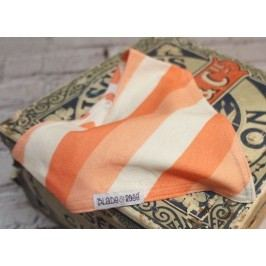 Blade & Rose Dívčí šátek s proužky - oranžový