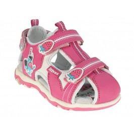 Beppi Dívčí sandály s jahůdkami - růžové