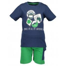 Blue Seven Chlapecký set trička a kraťasů - modro-zelený