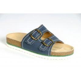Befado Chlapecké ortopedické pantofle Ondra - modré