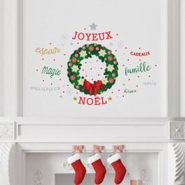 Walplus Samolepka na zeď - vánoční věnec