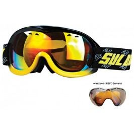 Sulov Brýle sjezdové dětské SULOV PASSO, dvojsklo (oranžové s REVO červenou úpravou) - černo-žluté