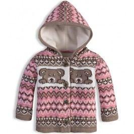 Carodel Dívčí kabátek s pejskem - růžovo-hnědý
