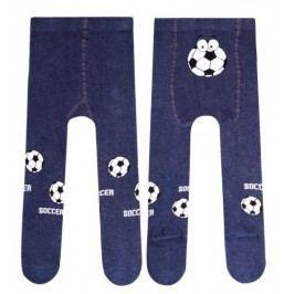 STEVEN Chlapecké punčocháče Fotbal - tmavě modré