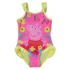 E plus M Dívčí plavky Peppa Pig - růžovo-žluté