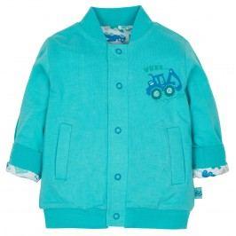 G-mini Chlapecký oboustranný kabátek Bagr - modrý