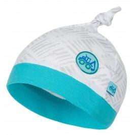 G-mini Chlapecká čepice Bagr - šedo-modrá