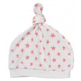 Garnamama Dětská čepice s hvězdičkami - bílo-červená