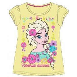 E plus M Dívčí tričko Frozen - žluté