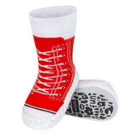SOXO® Dívčí ponožky s podrážkou Tenisky - červené