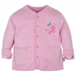 G-mini Dívčí oboustranný kabátek Kočička - růžový