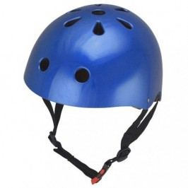 Kiddimoto Cyklistická helma Mettalic Blue, velikost M
