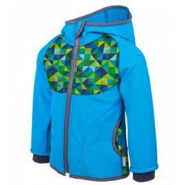 Unuo Chlapecká softshellová bunda s fleecem Triangl - modrá