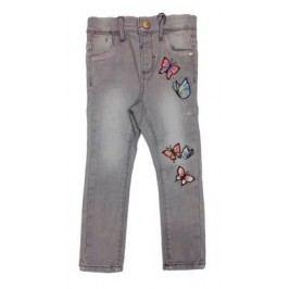 Name it Dívčí kalhoty s motýlky - šedé