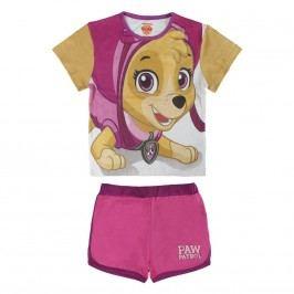 Disney Brand Dívčí set kraťasů a trička Paw Patrol - barevný