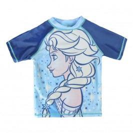 Disney Brand Dívčí plavecké tričko Frozen - modré
