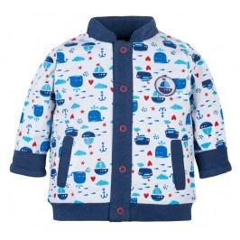 G-mini Chlapecký oboustranný kabátek Námořník - modrý