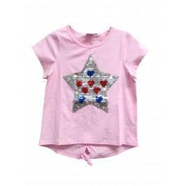 Topo Dívčí tričko s hvězdou - růžové