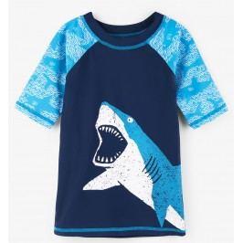 Hatley Chlapecké plavecké tričko se žralokem UV 50+ - modré