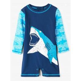 Hatley Chlapecký plavecký overal se žralokem UV 50+ - modrý
