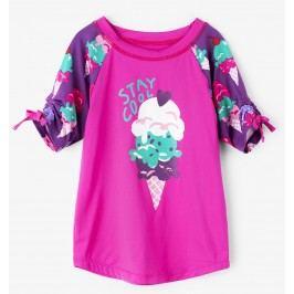 Hatley Dívčí plavecké tričko se zmrzlinou UV 50+ - růžové