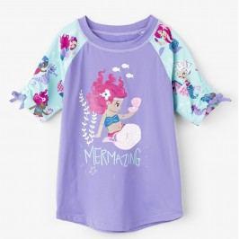 Hatley Dívčí plavecké tričko s mořskou pannou UV 50+ - fialové