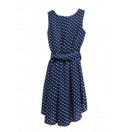 Topo Dívčí puntíkované šaty - modré