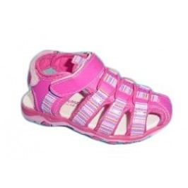 V+J Dívčí sandály - růžovo-fialové
