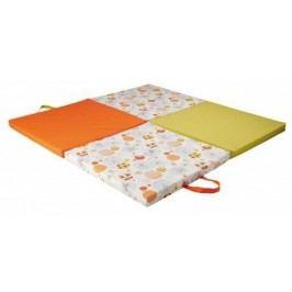 Tineo Cestovní matrace/podložka 3v1, oranžovo-zelená