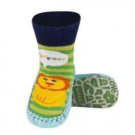 SOXO® Chlapecké ponožky s podrážkou Lev - barevné