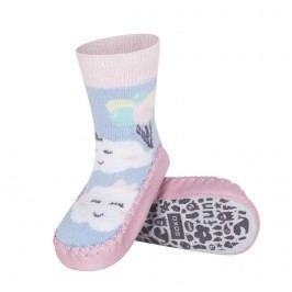 SOXO® Dívčí ponožky s podrážkou Mráčky - barevné
