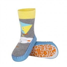 SOXO® Chlapecké ponožky s podrážkou Mráček a drak - barevné