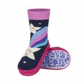 SOXO® Dívčí ponožky s podrážkou Kometa - barevné