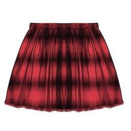Minoti Dívčí řasená sukně Redrum - červená