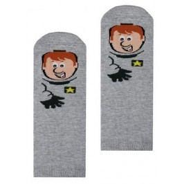 STEVEN Chlapecké ponožky s lupičem - šedé