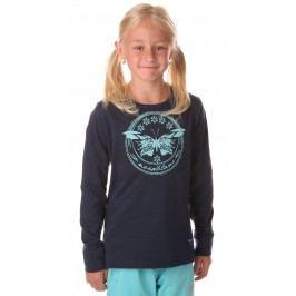 Nordblanc Dívčí tričko s motýlem - tmavě modré