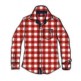 Mix 'n Match Chlapecká kostkovaná košile - červeno-bílá