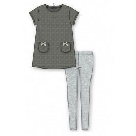 Mix 'n Match Dívčí set trička a legín - šedý